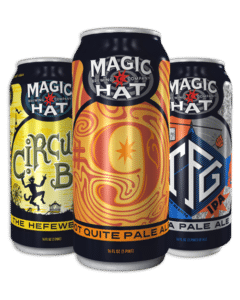 Magic Hat cans