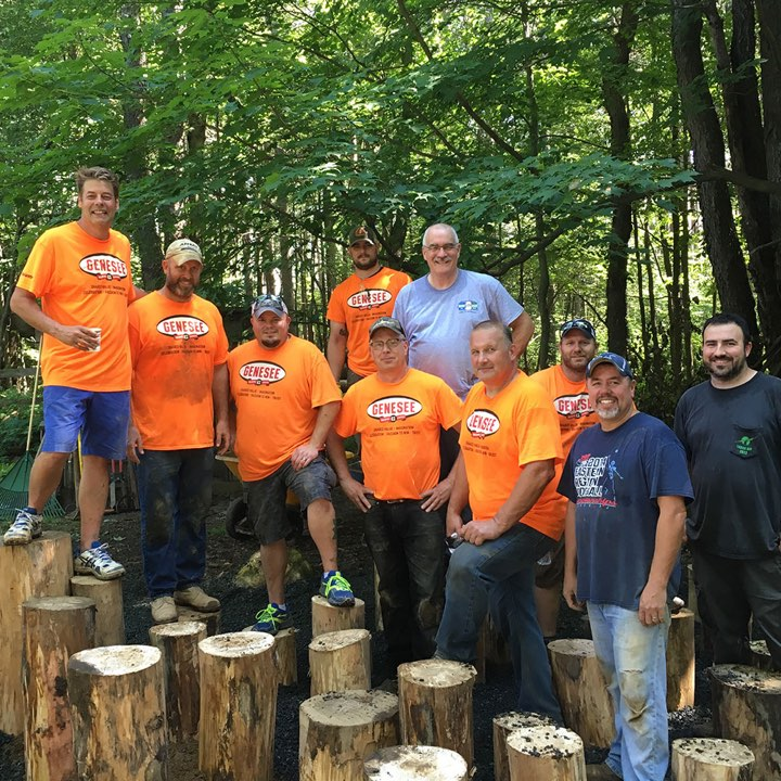 Genesee Brewery workers helping out at the Cummings Nature Center