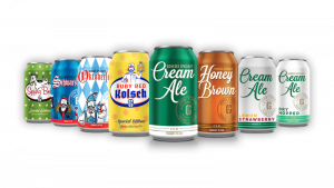 Genesee Brewing's Specialty Line:left to right; Spring Bock, Schwarzbier, Oktoberfest, Ruby Red Kolsch, Cream Ale, Honey Brown, Cream Ale Lemon Strawberry, Cream Ale Dry Hopped