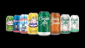 Genesee Brewing's Specialty Line:left to right; Spring Bock, Schwarzbier, Oktoberfest, Ruby Red Kolsch, Cream Ale, Honey Brown, Cream Ale Lemon Strawberry, Cream Ale Dry Hopped
