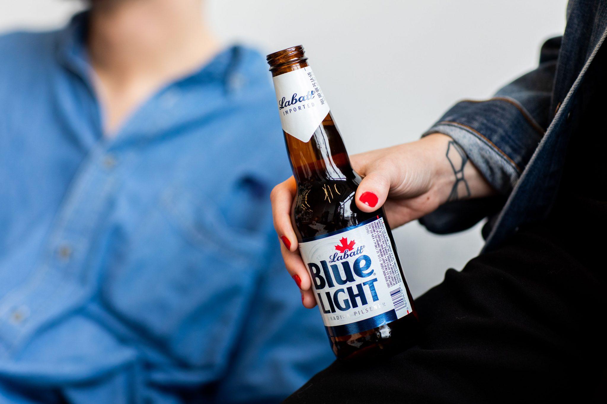 Bottle of Labatt Blue Light